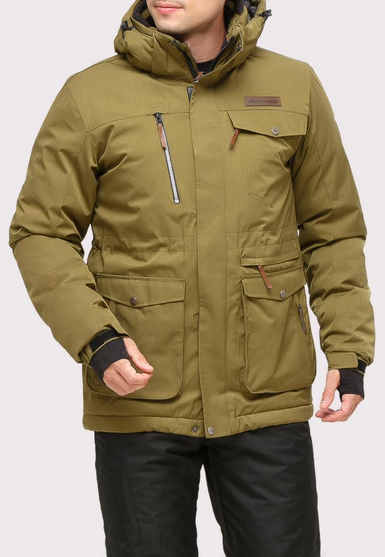Купить Куртка горнолыжная мужская цвета хаки 1910Kh