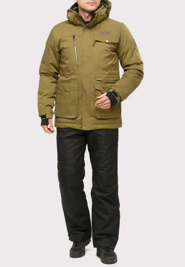 Купить Костюм горнолыжный мужской цвета хаки  01910Kh
