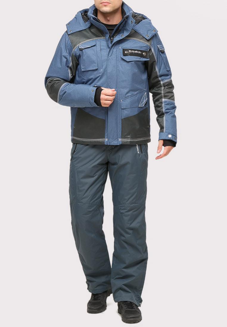 Купить Костюм горнолыжный мужской голубого цвета 01912Gl