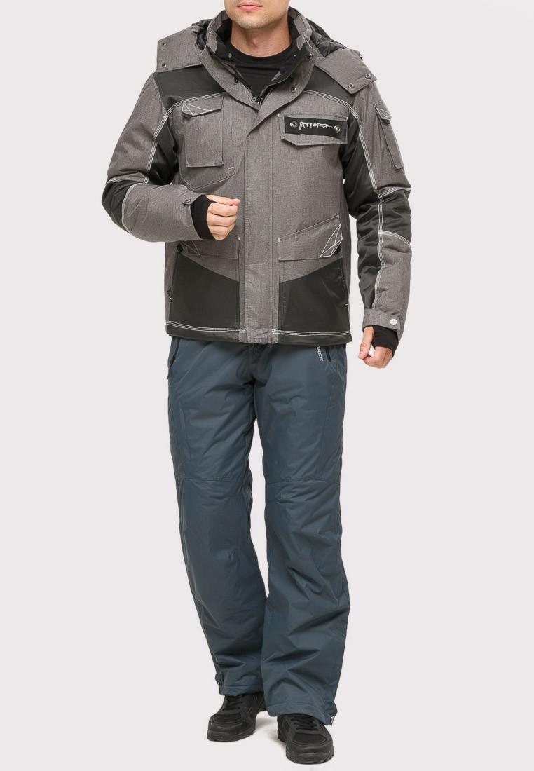 Купить Костюм горнолыжный мужской серого цвета 01912Sr