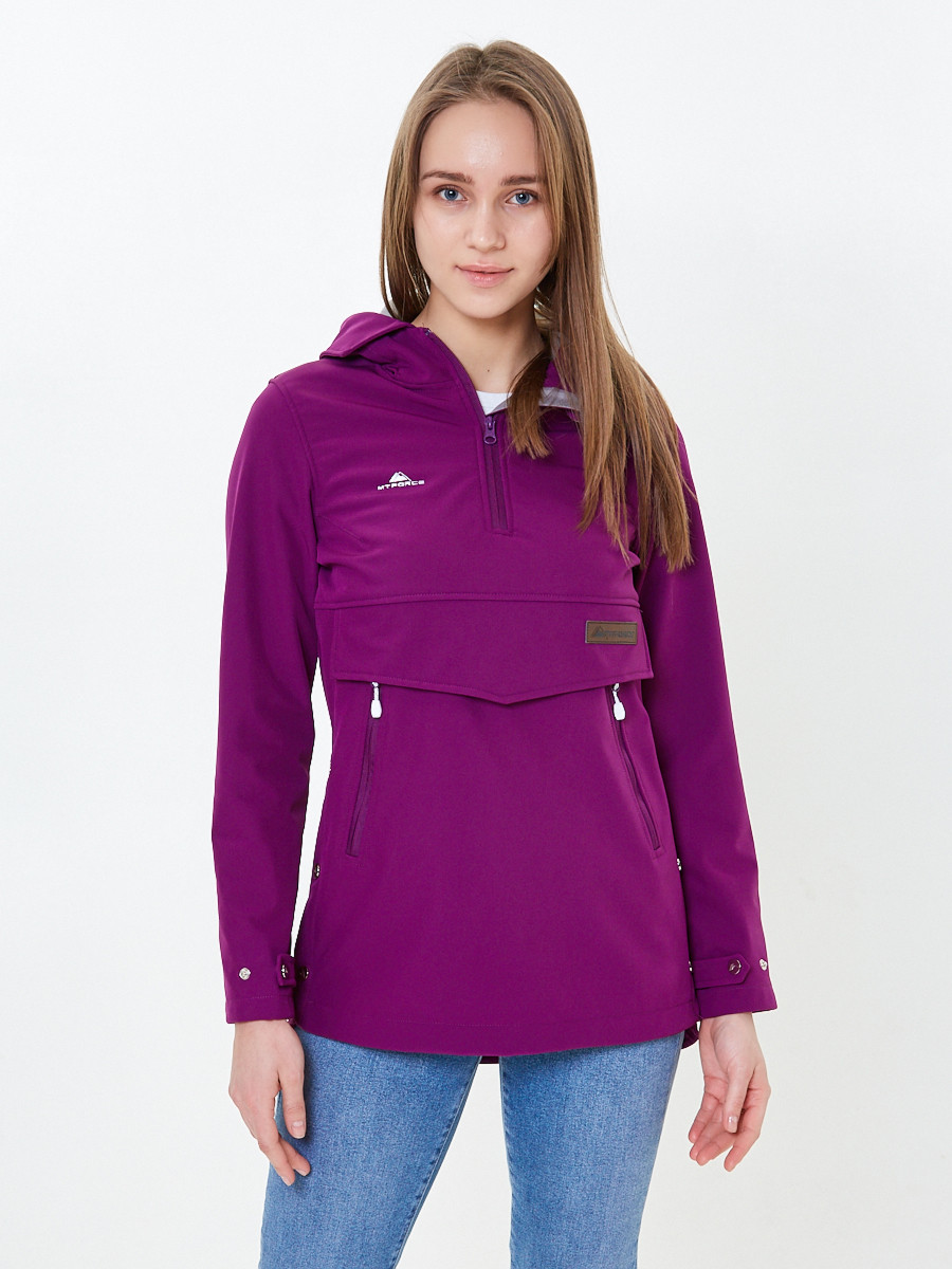 Купить Анорак softshell женский фиолетовго цвета 1914F