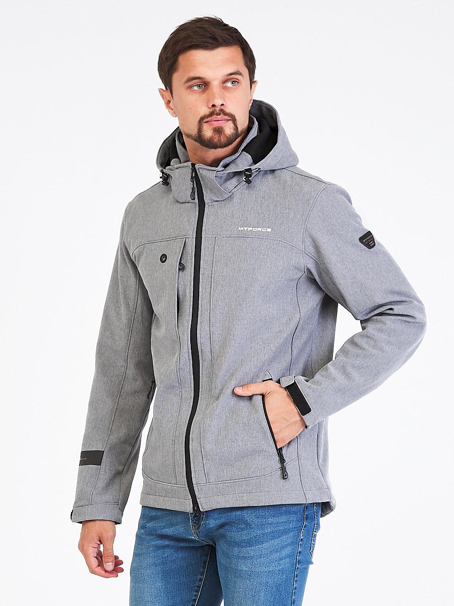 Купить Ветровка softshell мужская светло-серого цвета 1915SS