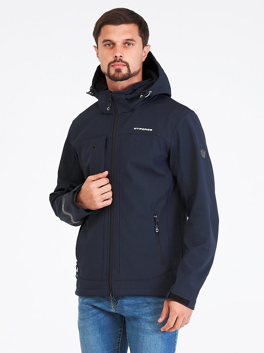 Купить Ветровка softshell мужская темно-синего цвета 1915TS