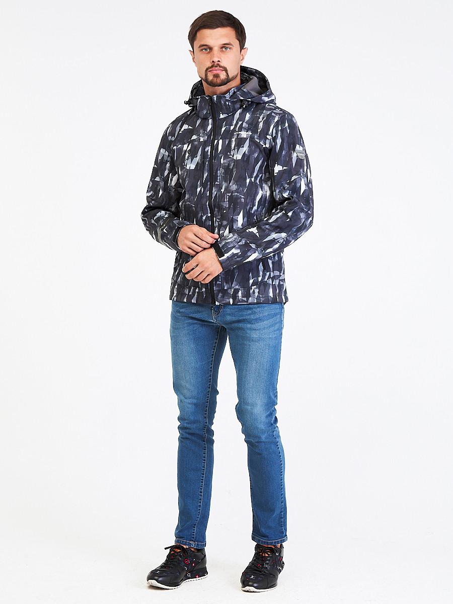 Купить Ветровка softshell мужская серого цвета 1915Sr