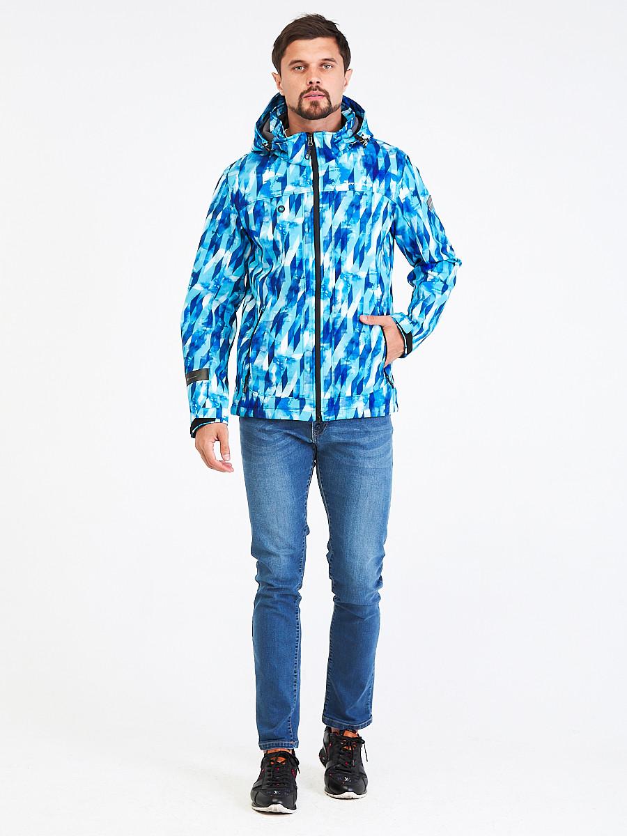 Купить Ветровка softshell мужская синего цвета 1915S