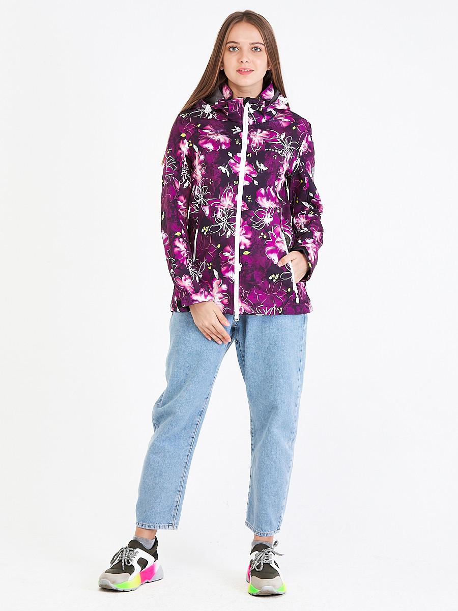 Купить Ветровка softshell женская фиолетового цвета 1977F