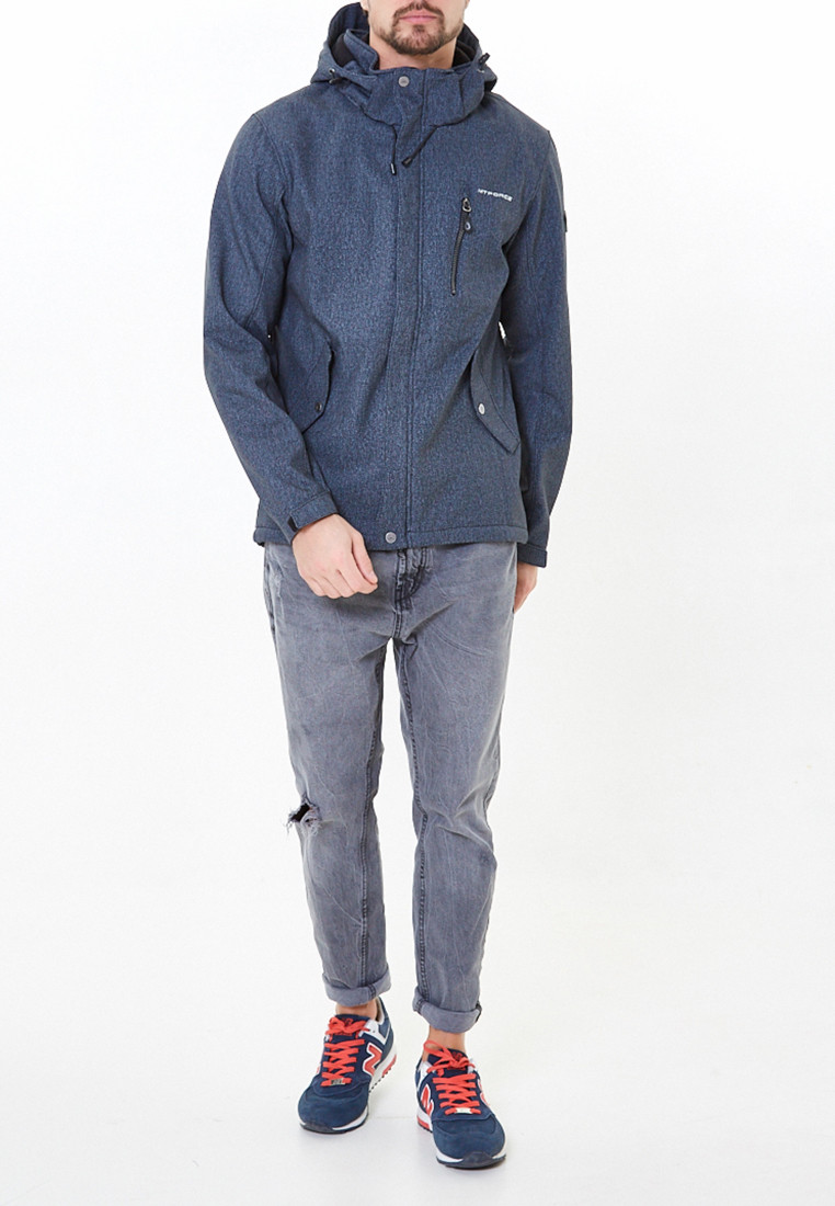 Купить Ветровка softshell мужская серого цвета 1920-1Sr