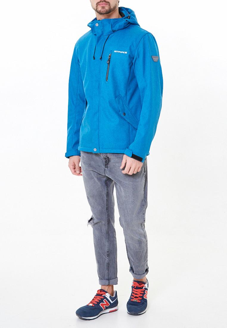 Купить Ветровка softshell мужская синего цвета 1920-1S