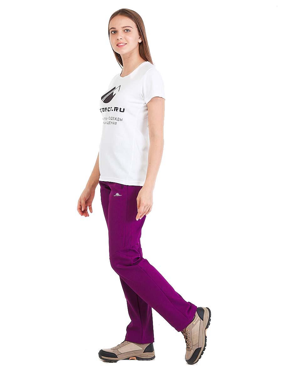 Купить Брюки женские из ткани softshell фиолетового цвета 1926F
