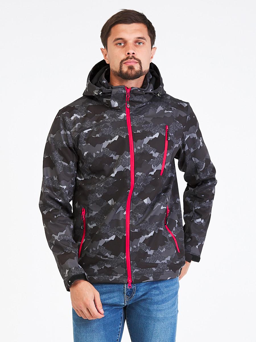 Купить Ветровка softshell мужская темно-серого цвета 1941-1TC