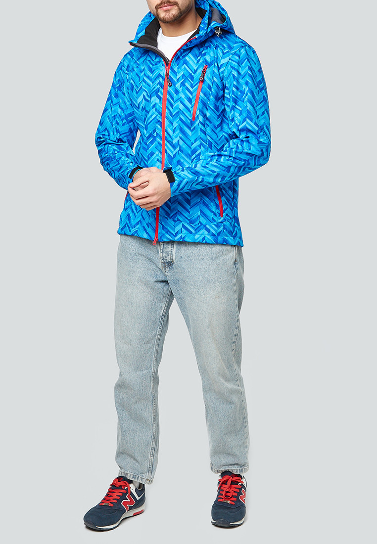 Купить Ветровка softshell мужская синего цвета 1941S