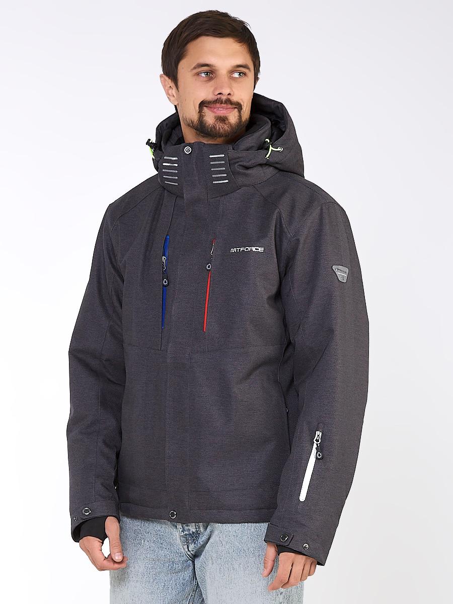 Купить Мужская зимняя горнолыжная куртка темно-серого цвета 1947TС