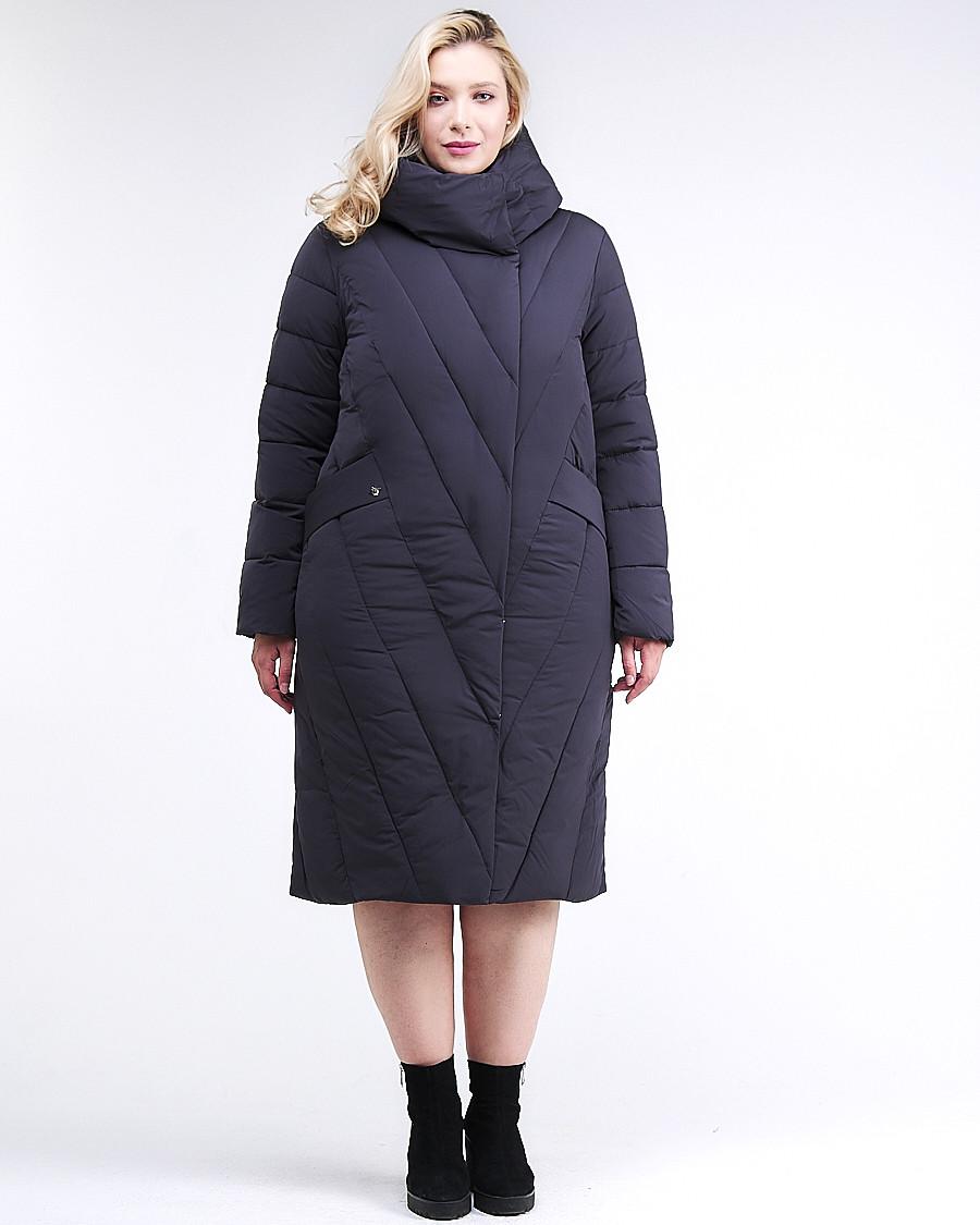 Купить Куртка зимняя женская классическая одеяло темно-синего цвета 191949_02TS