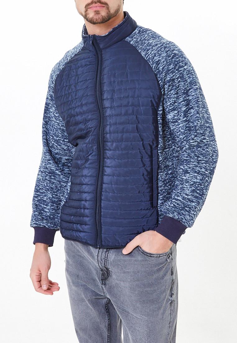 Купить Молодежная стеганная куртка мужская темно-синего цвета 1961TS