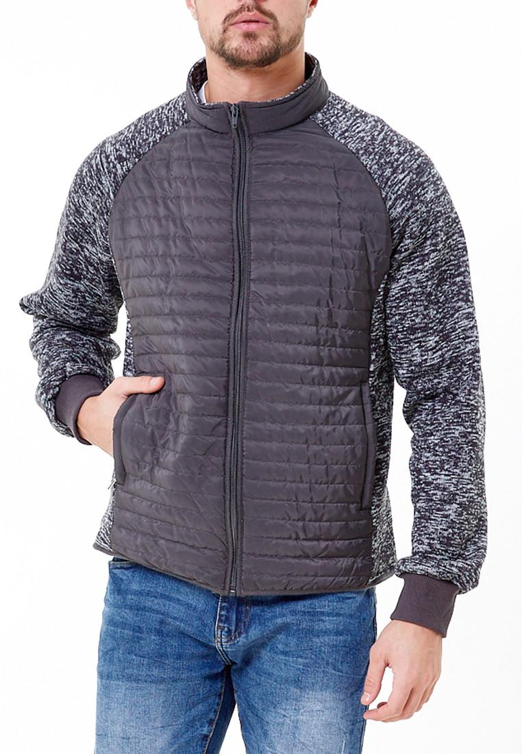 Купить Молодежная стеганная куртка мужская темно-серого цвета 1961TC