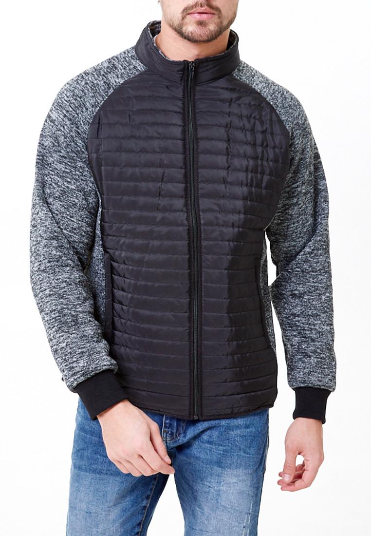 Купить Молодежная стеганная куртка мужская черного цвета 1961Ch