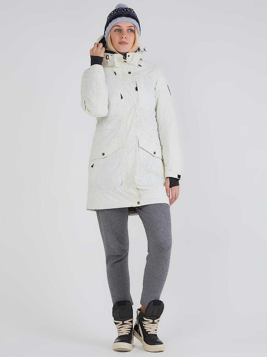 Купить Куртка парка зимняя женская белого цвета 19622Bl