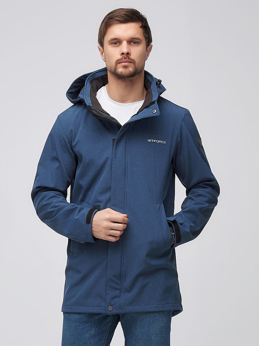 Купить Парка мужская осенняя весенняя softshell синего цвета 2010S