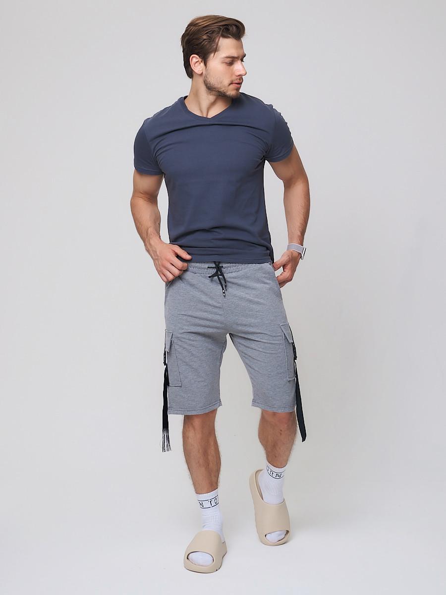 Купить Летние шорты трикотажные мужские серого цвета 21005Sr