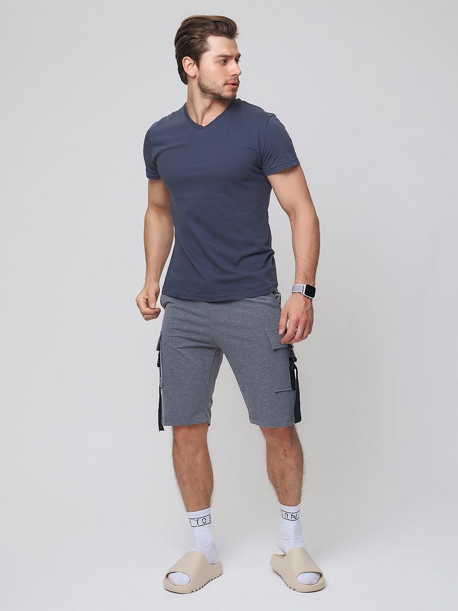 Купить Летние шорты трикотажные мужские темно-серого цвета 21005TC