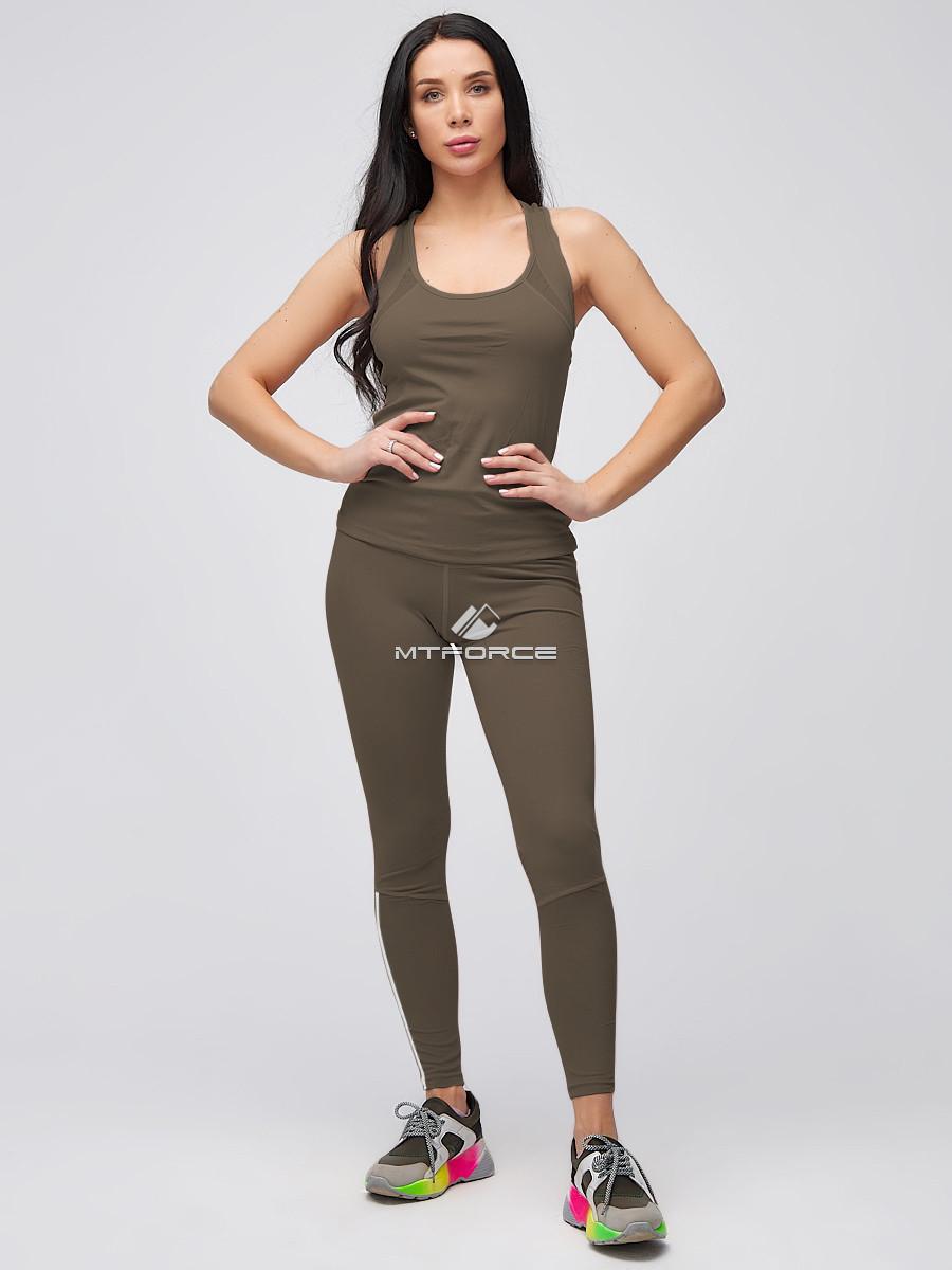 Купить Спортивный костюм для фитнеса женский цвета хаки 21106Kh