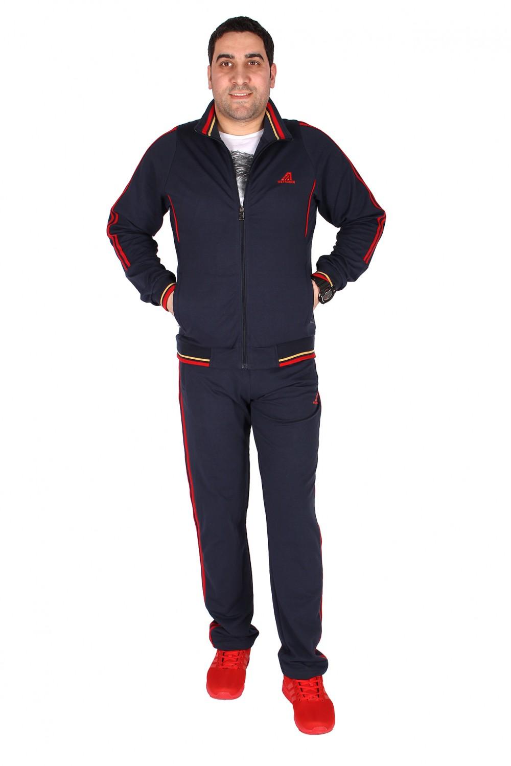 Купить Спортивный трикотажный костюм мужской темно-синего цвета 231558TS