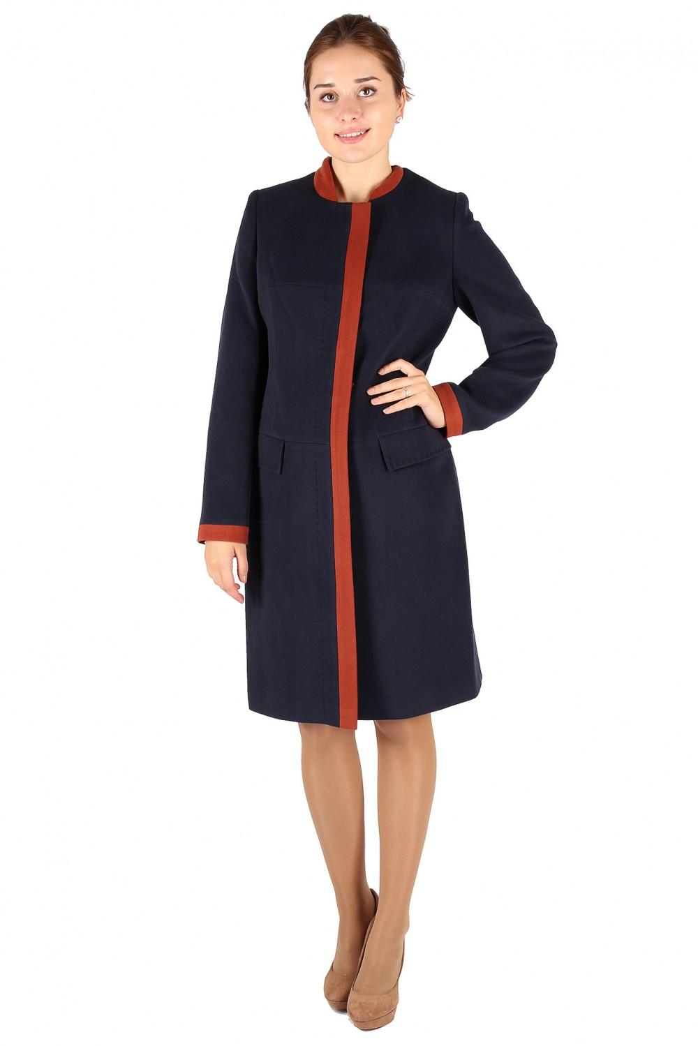 Купить Пальто женское темно-синего цвета 288TS
