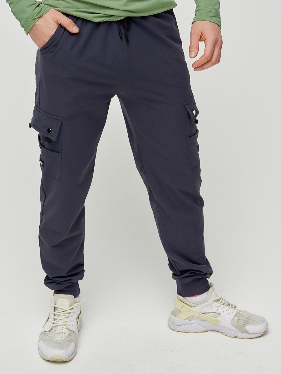 Купить Брюки спортивные мужские темно-серого цвета 3002TC