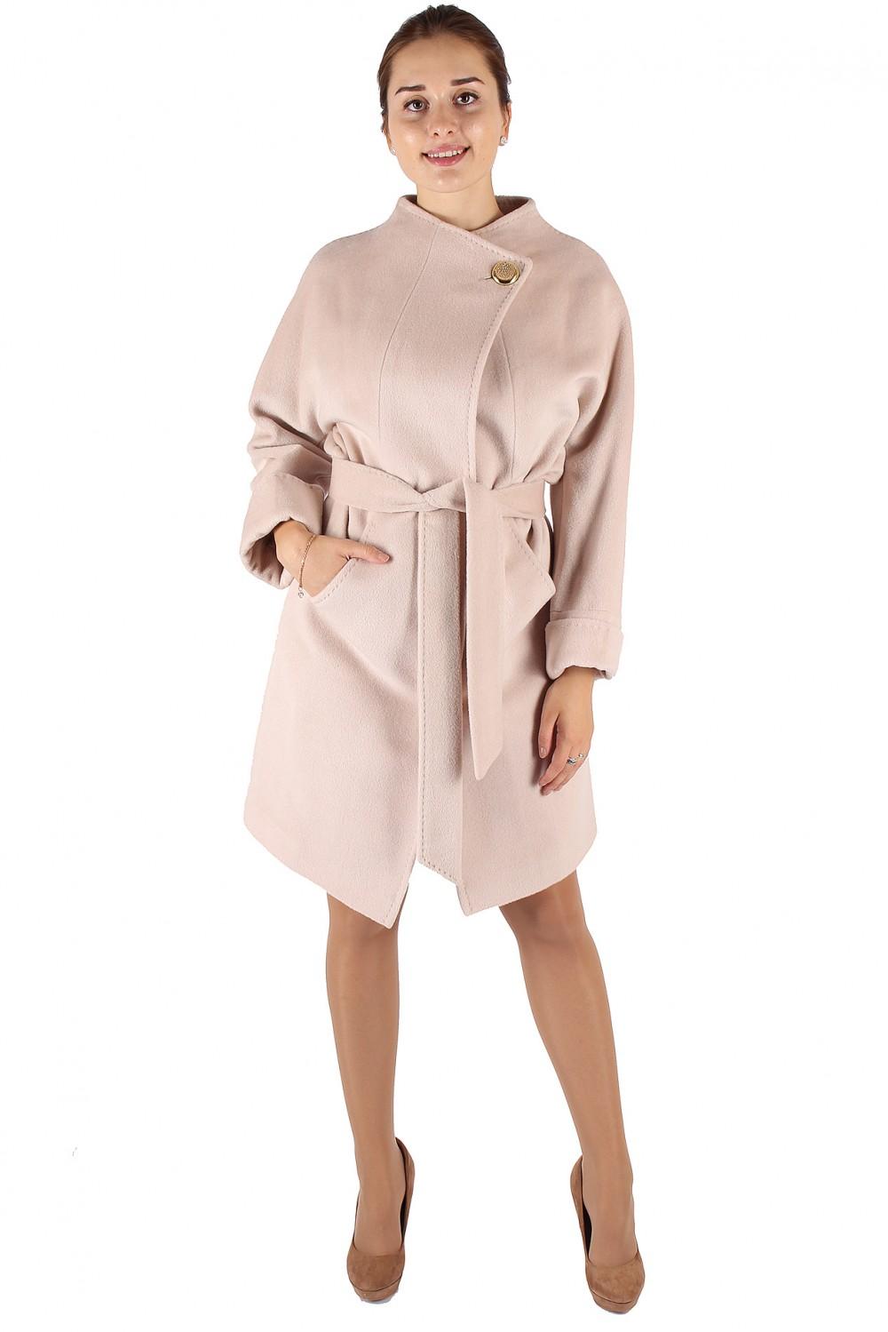 Купить Пальто женское бежевого цвета 380B