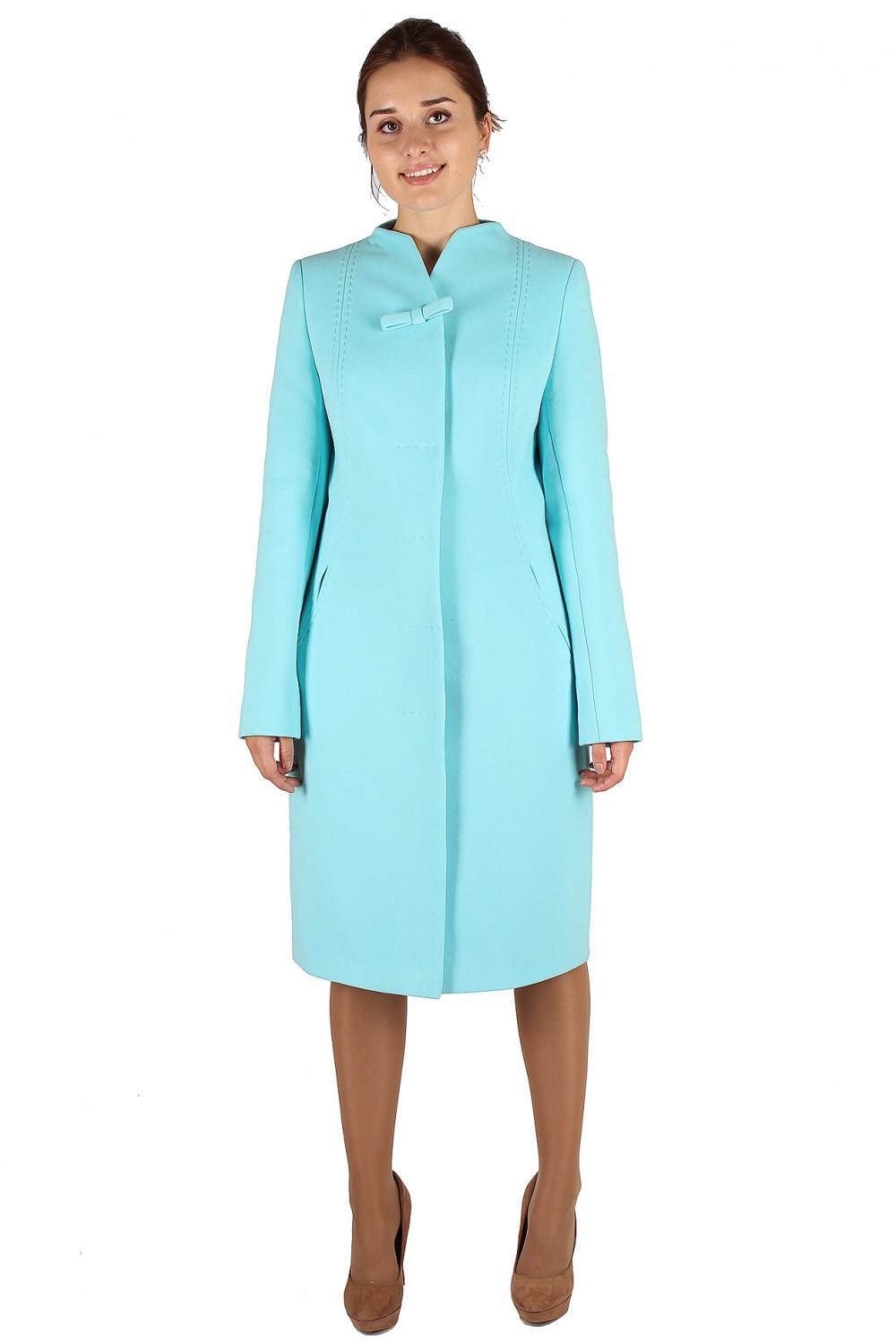 Купить Пальто женское голубого цвета 391Gl