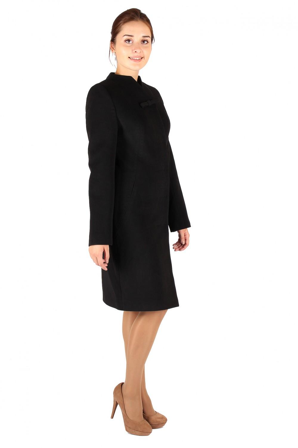 Купить Пальто женское черного цвета 391Ch
