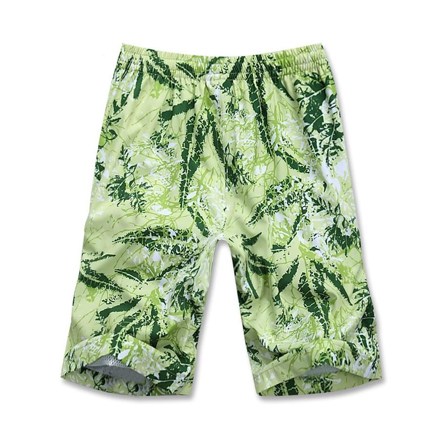 Купить Спортивные шорты зеленого цвета 4272Z