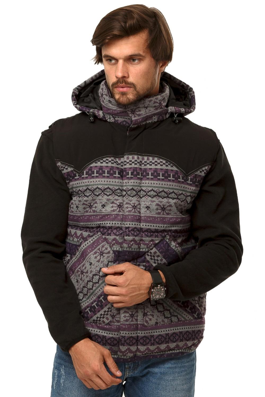 Купить Жилетка мужская утепленная фиолетового цвета 666F