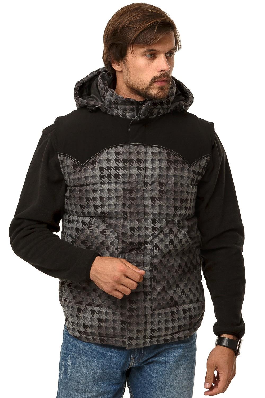 Купить Жилетка мужская утепленная серого цвета 666Sr