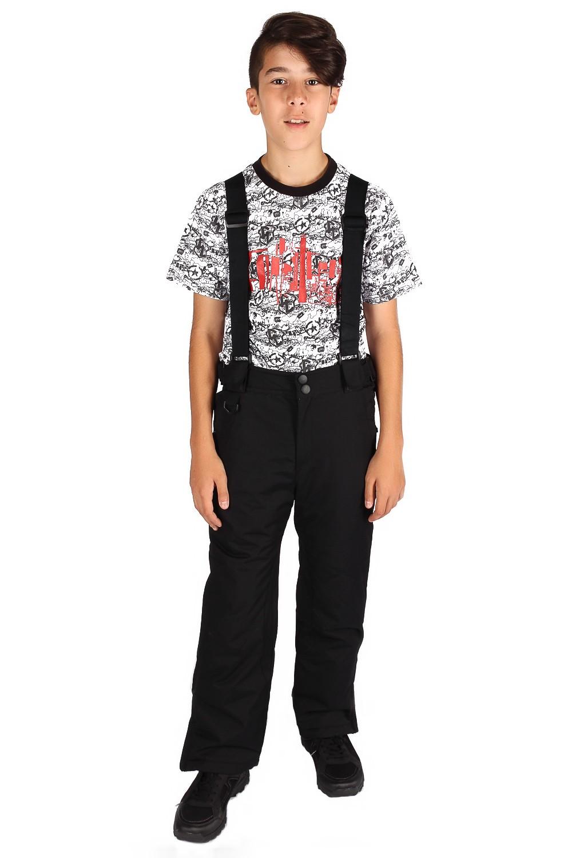 Купить Брюки горнолыжные подростковые для мальчика черного цвета 817Ch