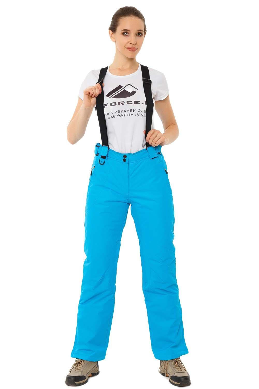 Купить Брюки горнолыжные женские синего цвета 818S