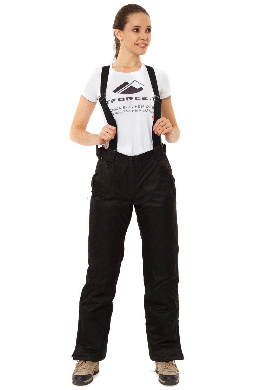 Купить Брюки горнолыжные женские черного цвета 818Ch