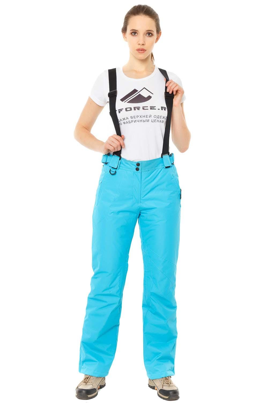 Купить Брюки горнолыжные женские голубого цвета 818Gl