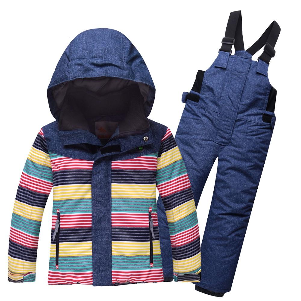 Купить Горнолыжный костюм детский темно-синий 8813TS