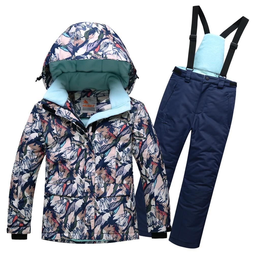 Купить Горнолыжный костюм подростковый для девочки темно-синий 8818TS