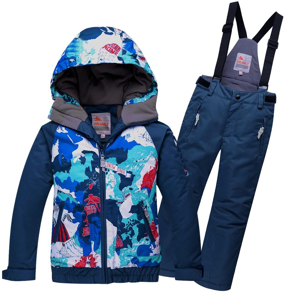Купить Горнолыжный костюм подростковый для мальчика синий 8823S