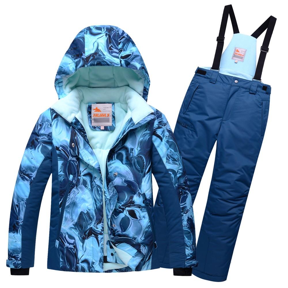 Купить Горнолыжный костюм подростковый для девочки синий 8824S