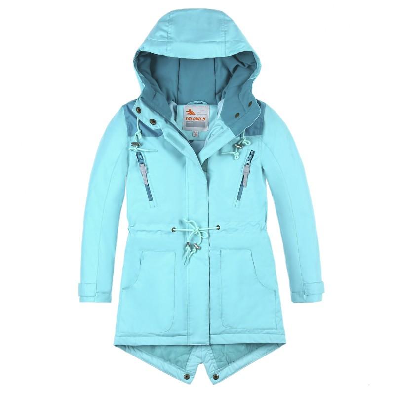 Купить Куртка парка зимняя подростковая для девочки голубого цвета 8834Gl