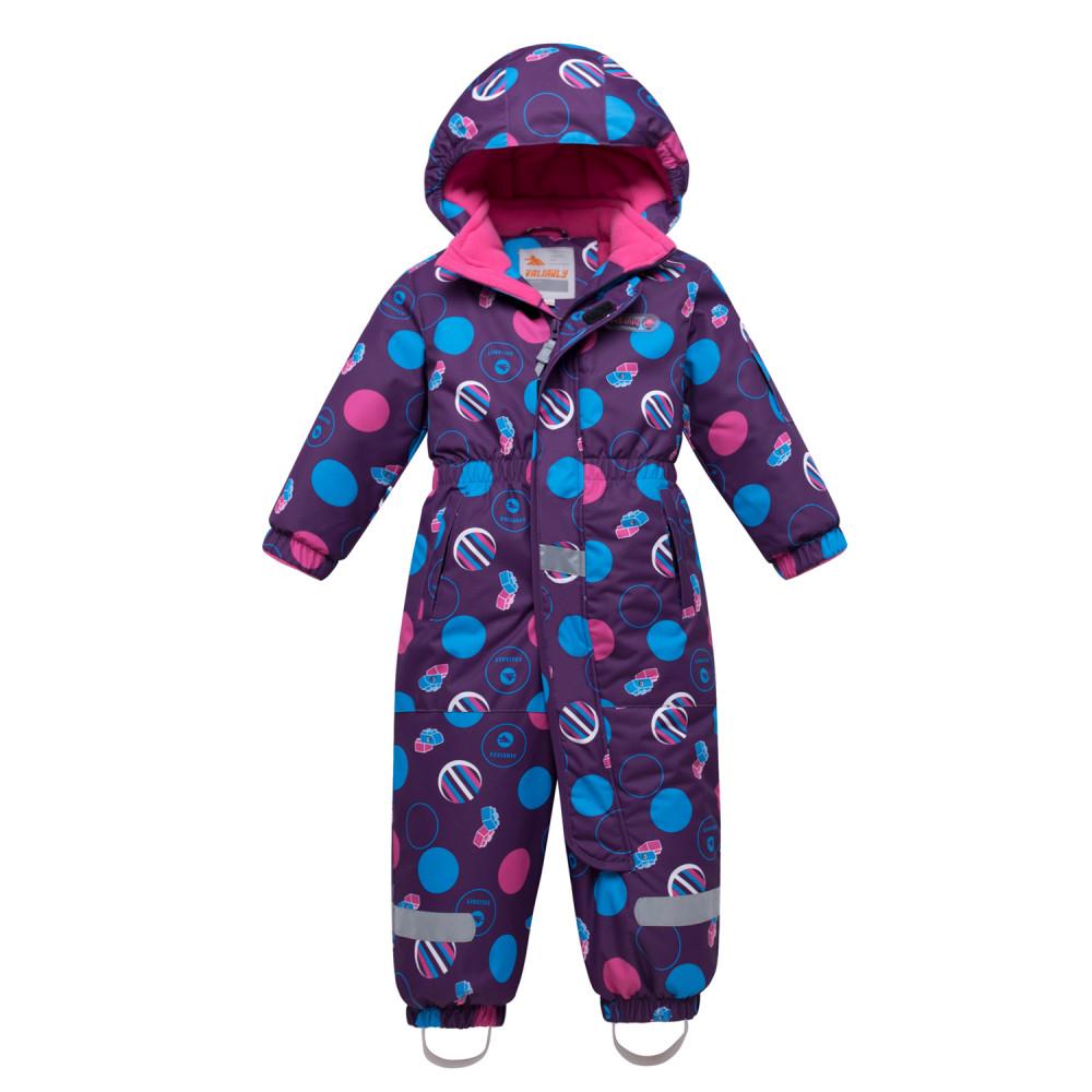 Купить Комбинезон для девочки зимний фиолетового цвета 8906F
