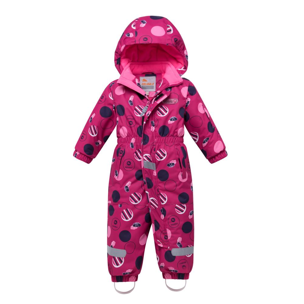 Купить Комбинезон для девочки зимний розового цвета 8906R