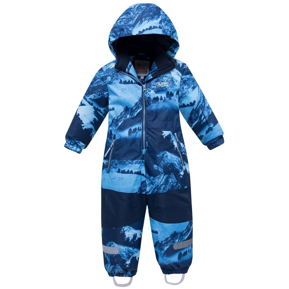Купить Комбинезон для мальчика зимний синего цвета 8907S