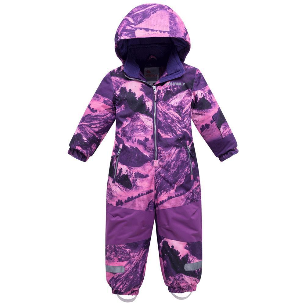 Купить Комбинезон для девочки зимний фиолетового цвета 8908F