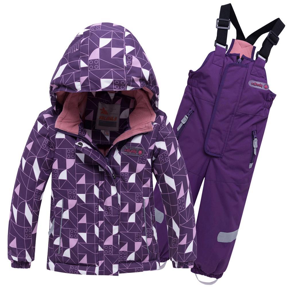Купить Горнолыжный костюм детский фиолетового цвета 8912F