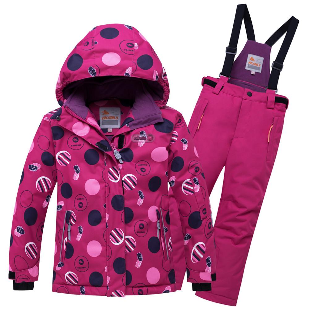 Купить Горнолыжный костюм подростковый для девочки малинового цвета 8916M