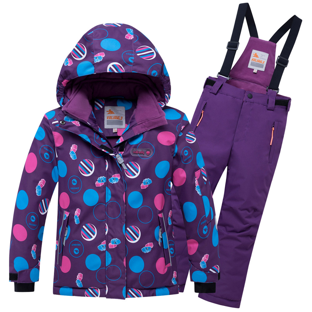 Купить Горнолыжный костюм подростковый для девочки фиолетового цвета 8916F
